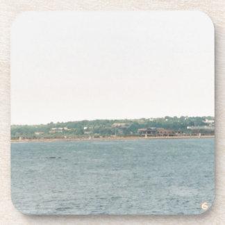 Newport shoreline drink coaster