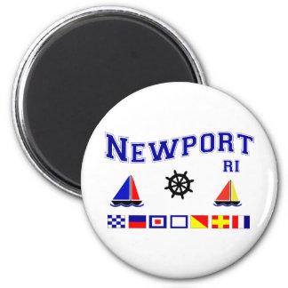 Newport Signal Flags 6 Cm Round Magnet