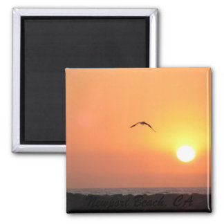 Newport Sunset Square Magnet