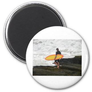 newport Surfer Fridge Magnet