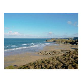 Newquay Bay Beaches Cornwall England Postcard