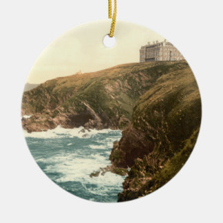Newquay, Beacon Cove in Cornwall, England Christmas Ornament