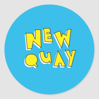 Newquay Classic Round Sticker