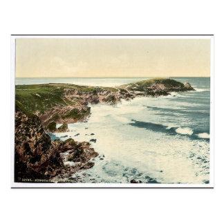 Newquay, Towan Head, Cornwall, England classic Pho Postcard