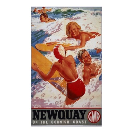 newquay travel poster FROM 8.99