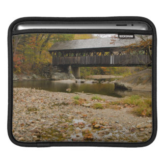 Newry Covered Bridge over river in autumn iPad Sleeve