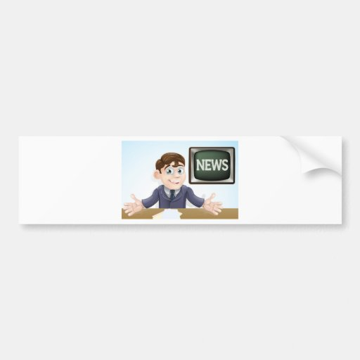 News anchor man bumper sticker