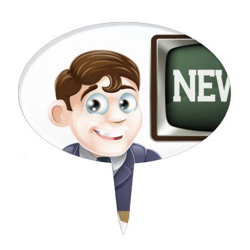 News anchor man cake pick