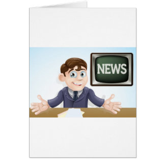 News anchor man greeting card