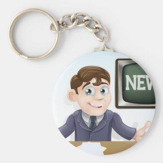 News anchor man key chain
