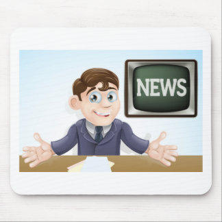 News anchor man mousepad