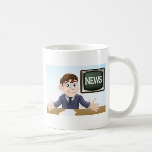 News anchor man coffee mugs