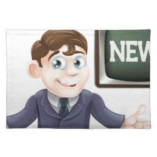 News anchor man place mats