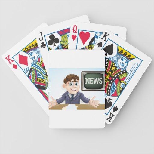 News anchor man deck of cards