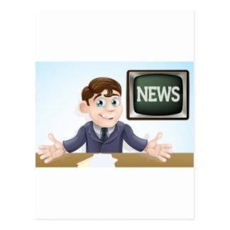 News anchor man postcards