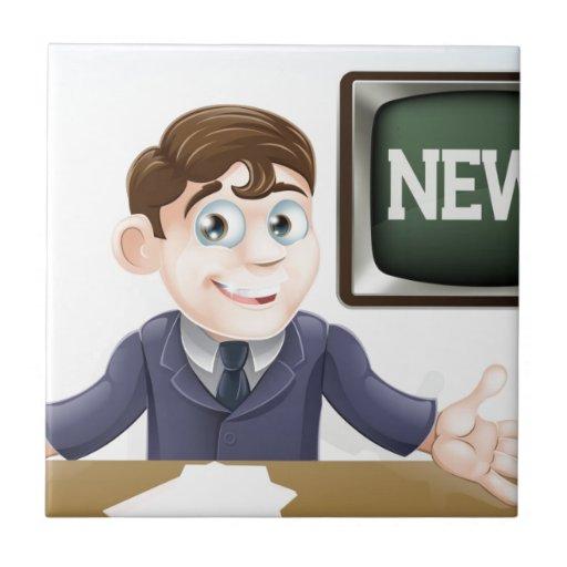 News anchor man tiles