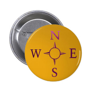 NEWS : Compass North East West South 6 Cm Round Badge