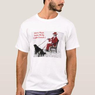 News Flash Santa Hit By Credit Crunch ! T-Shirt