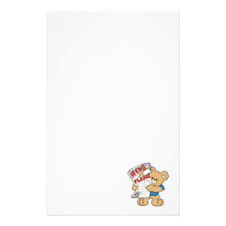 News Flash Teddy Bear Stationery Design
