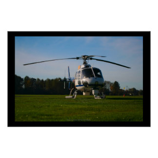 News Helicopter Poster