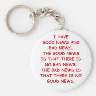 news basic round button key ring