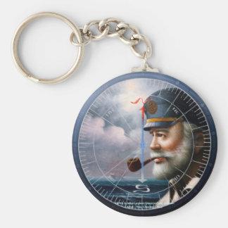 NEWS Map Captain Decor or Sea Captain Keychain