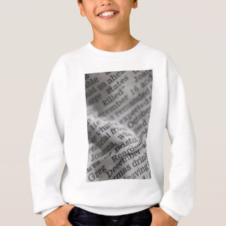 News paper sweatshirt