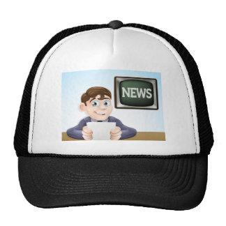 News reporter cap