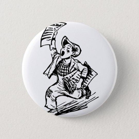 Newsboy 6 Cm Round Badge