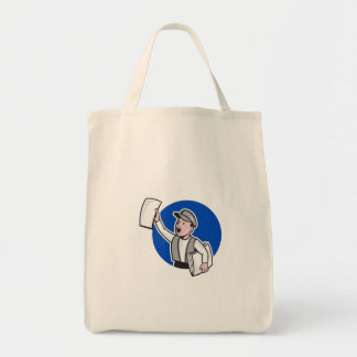 Newsboy Selling Newspaper Circle Cartoon Tote Bag