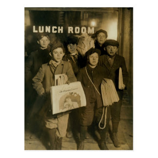 NEWSBOYS in New York Turn of Century Postcard