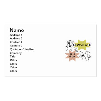 Newsflash I m a Gram T-shirts and Gifts Business Cards