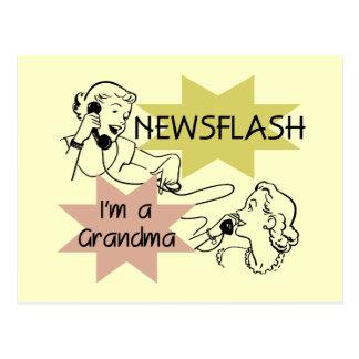 Newsflash I m a Grandma T-shirts and Gifts Postcards
