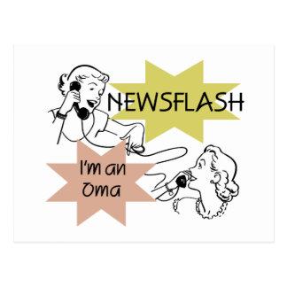 Newsflash I m an Oma T-shirts and Gifts Post Card