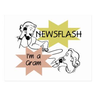 Newsflash I'm a Gram T-shirts and Gifts Postcard