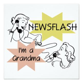 Newsflash I'm a Grandma T-shirts and Gifts 13 Cm X 13 Cm Square Invitation Card