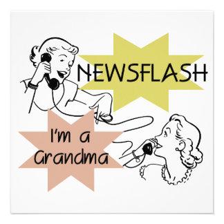Newsflash I'm a Grandma T-shirts and Gifts Custom Invite
