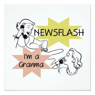 Newsflash I'm a Granma Tshirts and Gifts 13 Cm X 13 Cm Square Invitation Card