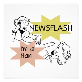 Newsflash I'm a Nani t-shirts and Gifts Invite