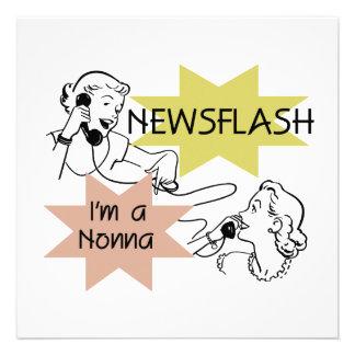 Newsflash I'm a Nonna Tshirts and Gifts Custom Invites