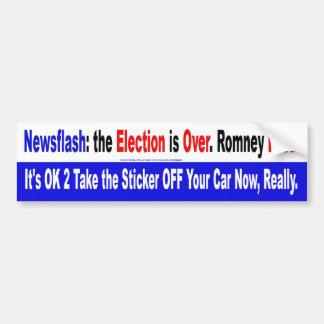 Newsflash Romney Lost Bumper Sticker