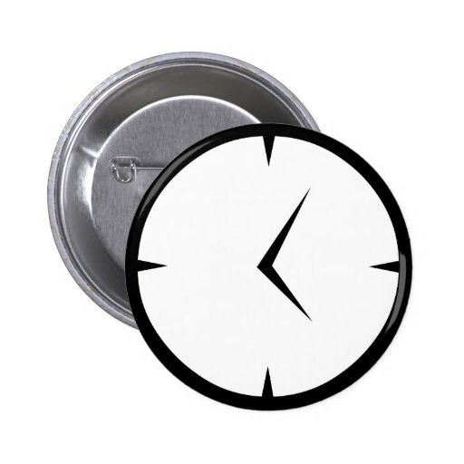 Newskoo Clock Badge Pinback Button