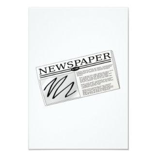Newspaper 9 Cm X 13 Cm Invitation Card