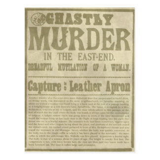 Newspaper Appeal: Jack the Ripper/Leather Apron Postcard