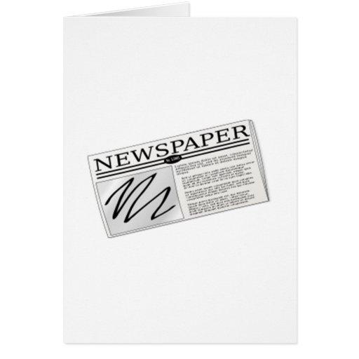 Newspaper Greeting Card