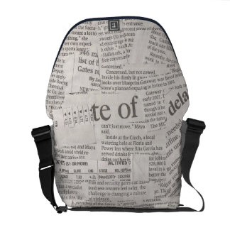 Newspaper Cutting Courier Bag