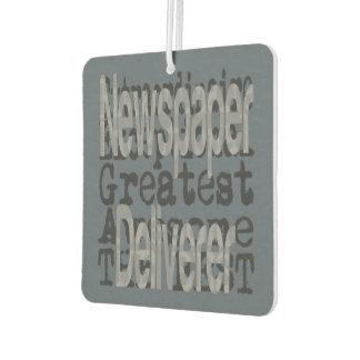 Newspaper Deliverer Extraordinaire Car Air Freshener