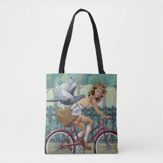 Newspaper Girl Tote Bag
