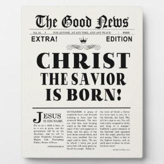 Newspaper Headline Christmas Plaque