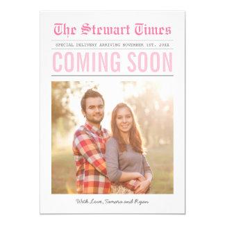 Newspaper | Pregnancy Announcement | Pink